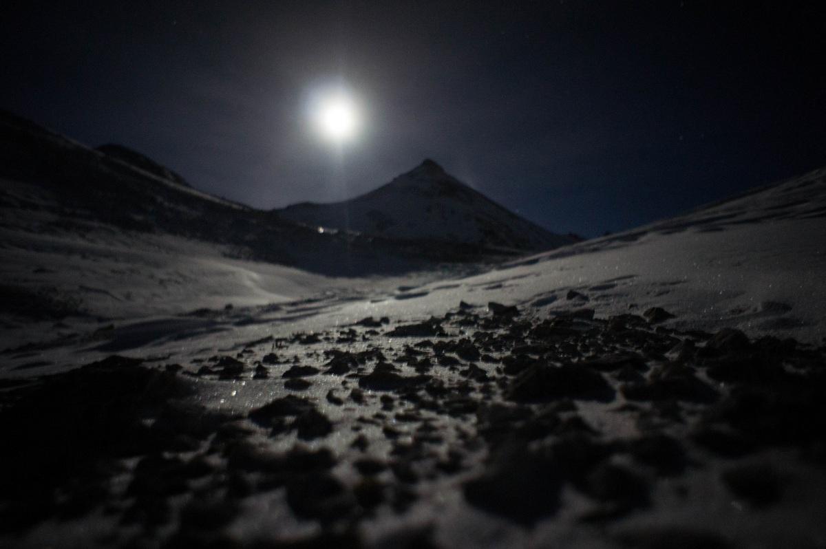 Arktische Verhältnisse in der Breitgrieskarscharte
