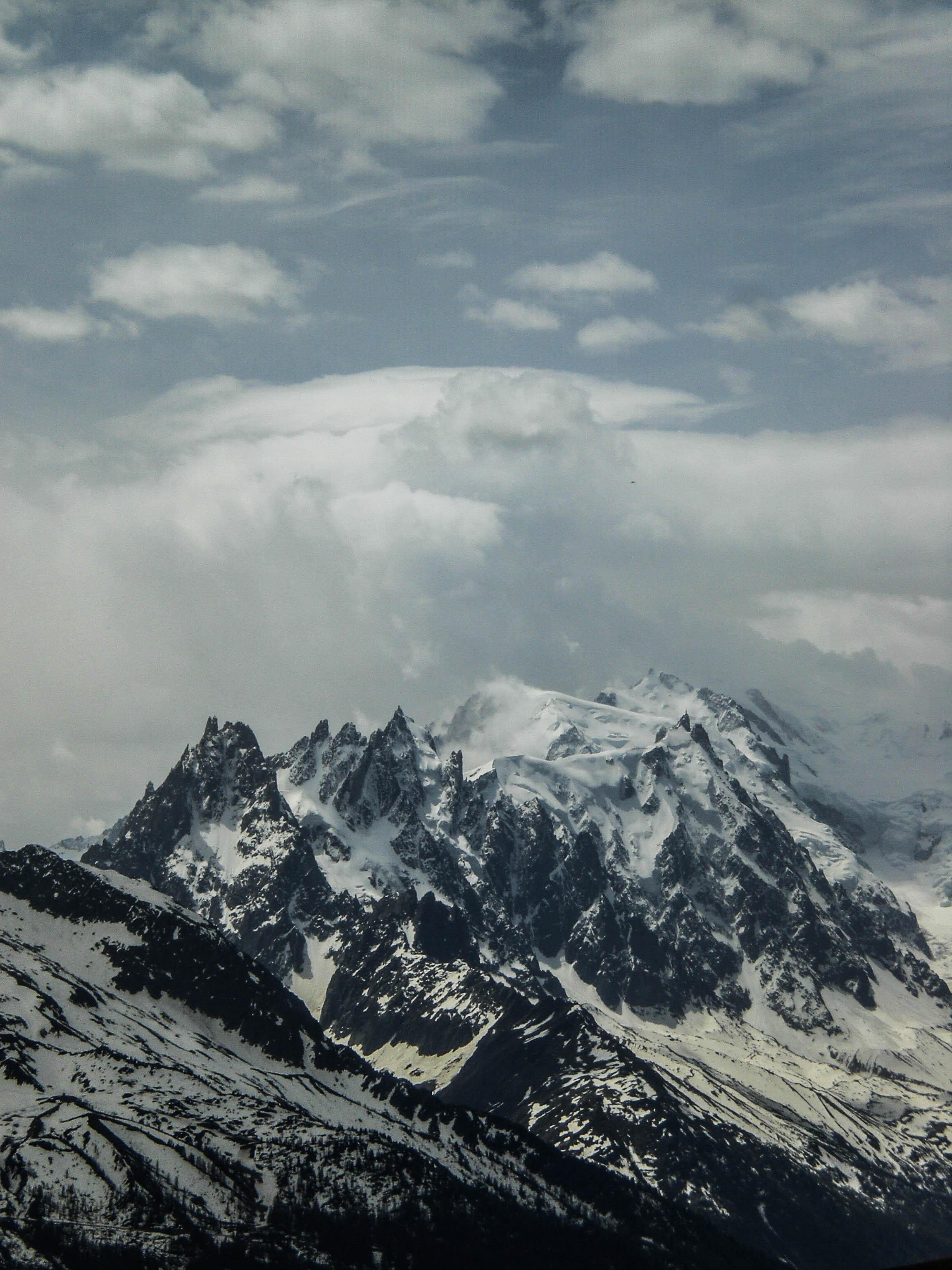 Die Aiguilles und Mont Blanc du Tacul