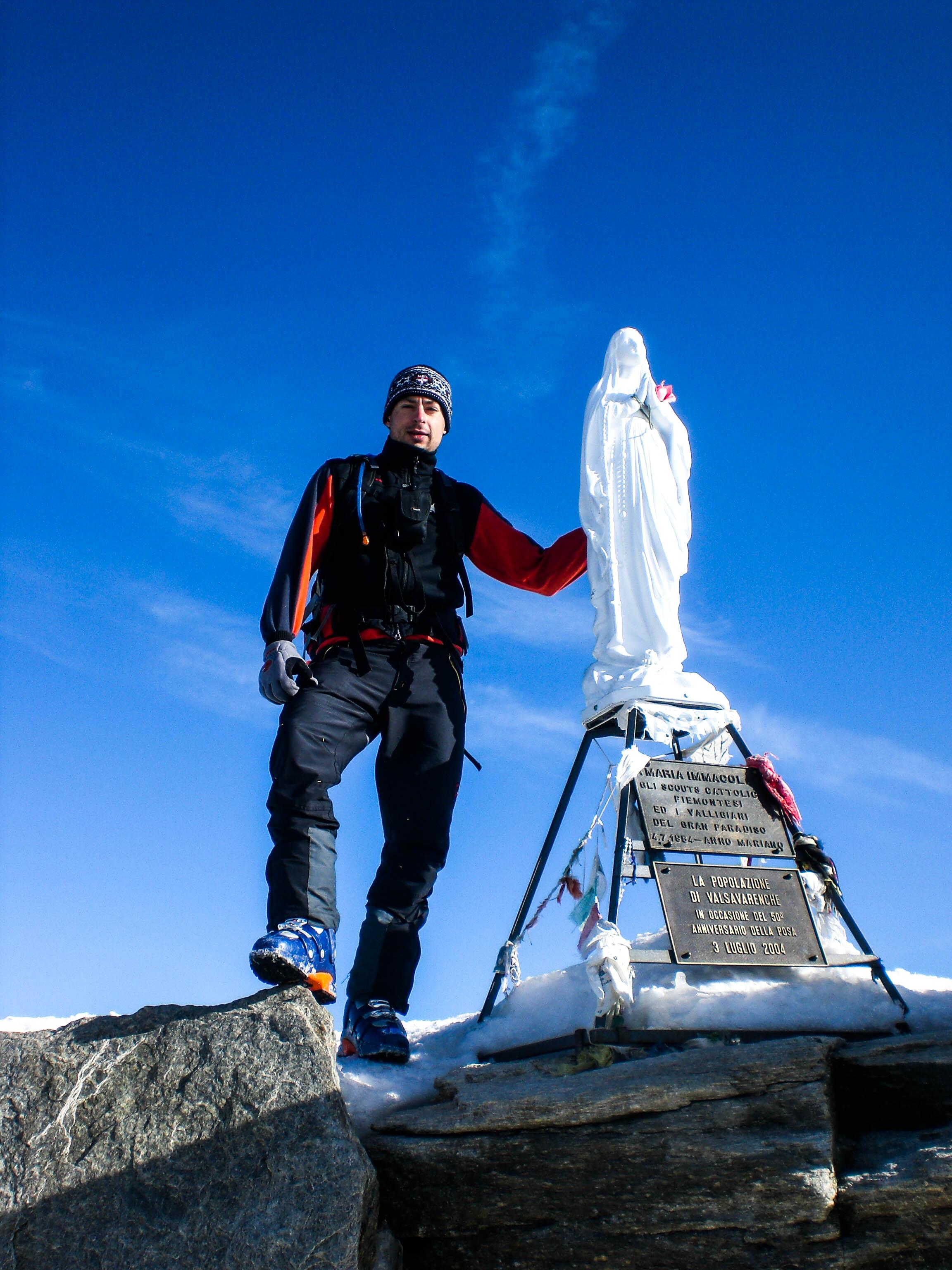 Gran Paradiso Gipfel-Madonna