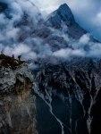 Dolomiten Abgrund