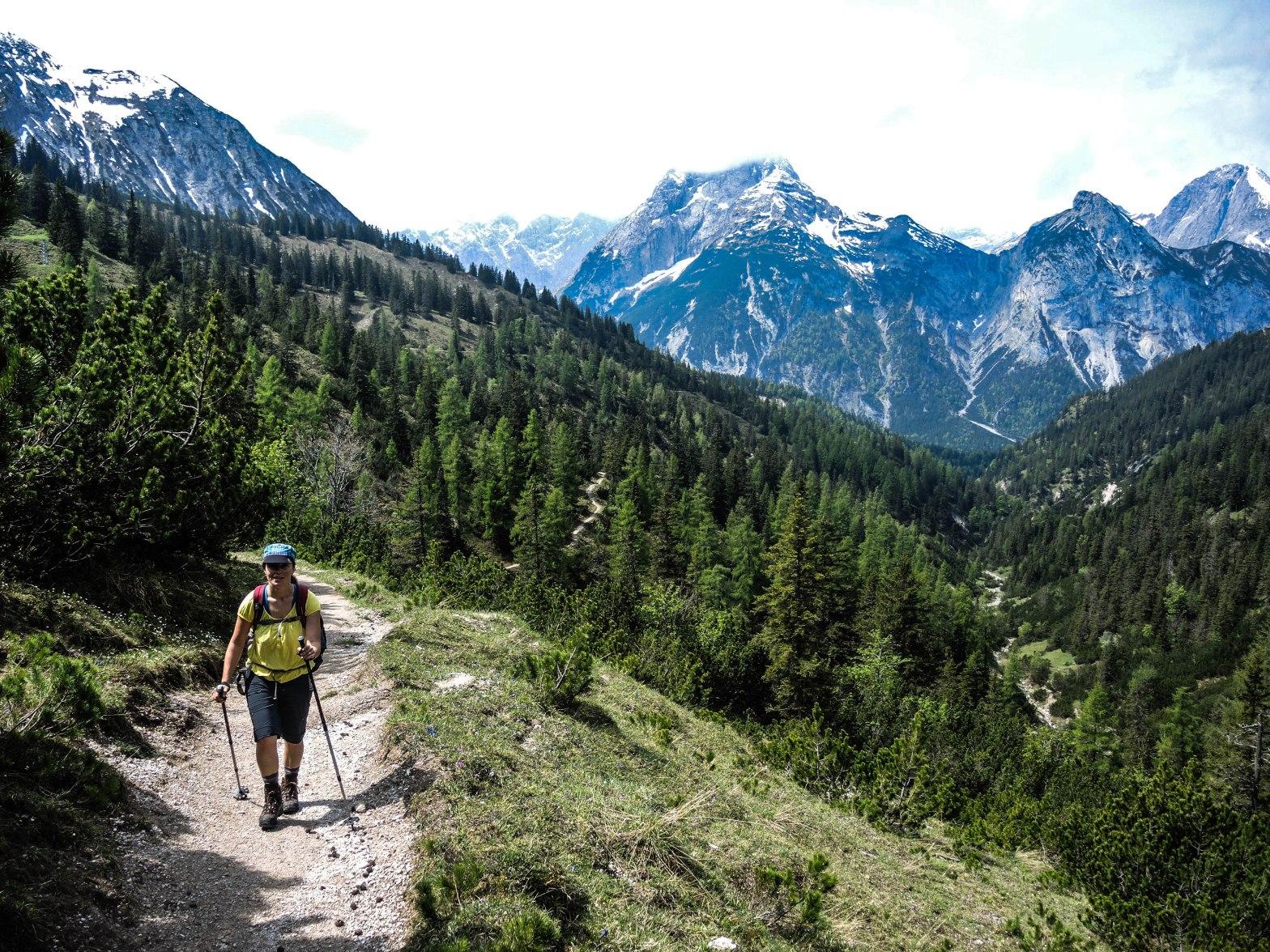 Aufstieg Plumsjochhütte