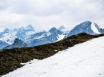 Kaltwasserkarspitze und Birkkarspitze, davor Gamsjoch und Ruederkarspitze