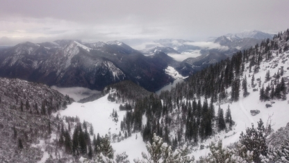 Tiefblick Richtung Jachenau