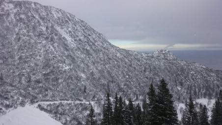Wieder hinab - Schneestimmung am Herzogstand