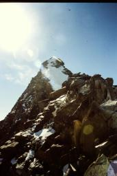 Dufourspitze Gipfelgrat