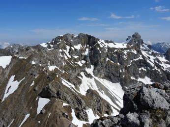 Das Ziel: Linderspitzen und die Westliche Karwendelspitze