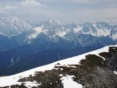 Blick zur Tiroler Hütte am Brunnstein, Solstein links hinten