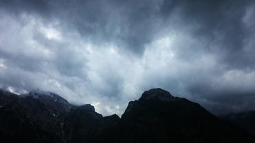Bergwetter bedrohlich