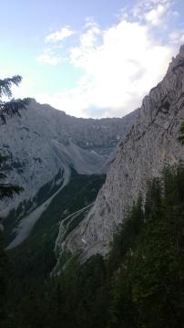Erster Blick zum Dammkar