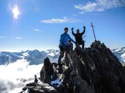 Auf dem Gipfel des Vorderen Brochkogels - wir haben ihn!