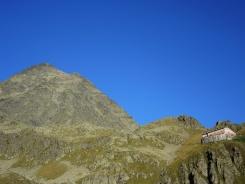 Blick zurück auf die Innsbrucker Hütte