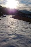 Hartgefrorener Schnee