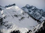 Grabenkarspitze, Östliche Karwendelspitze und im Vordergrund