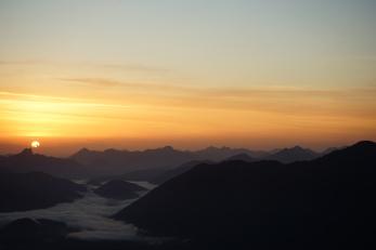 5:20 Uhr: Sonnenaufgang vom Grasköpfl.