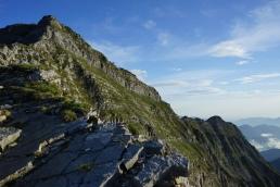 Die auffallende Schichtung am Gipfelaufbau des Schafreuter fasziniert immer wieder