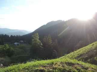 Die Tutzinger Hütte in der Morgensonne