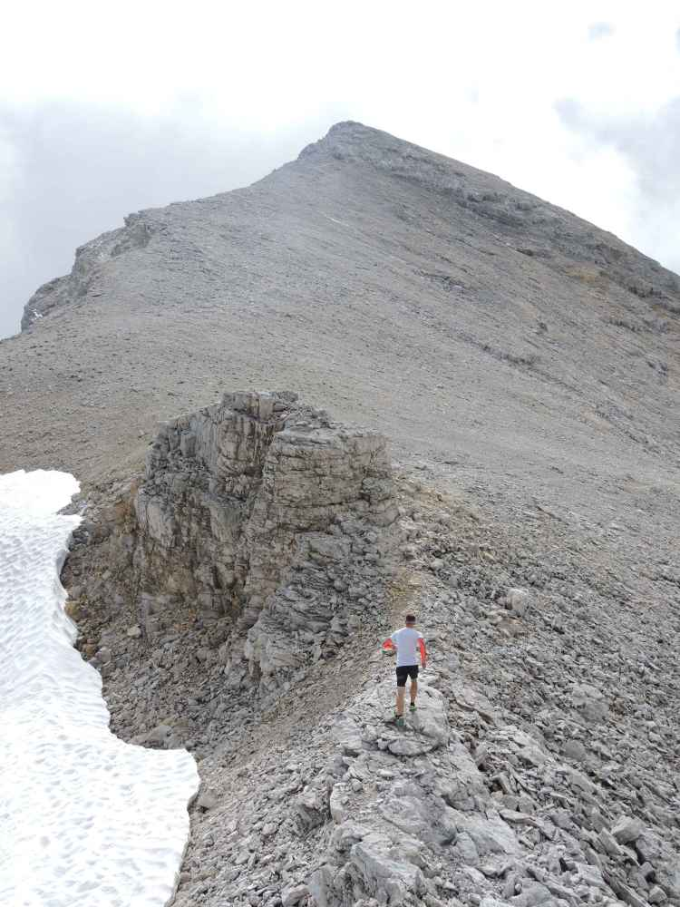Das Sahnestück: Wir laufen auf den Gipfel der Kleinen Seekarspitze (2.613 Meter).