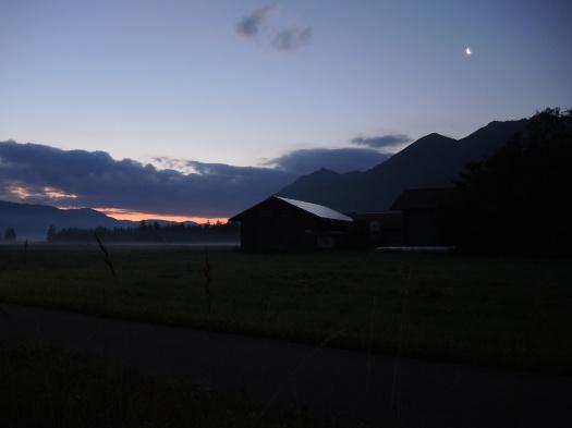 Morgengrauen zwischen Wallgau und Krün