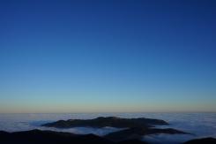 Nebelmeer über dem bayerischen Oberland