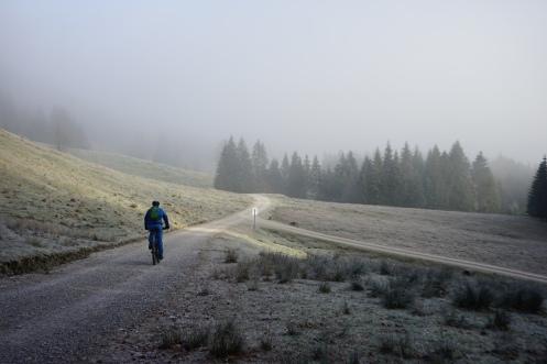 Radträume mit Raureif im Längental