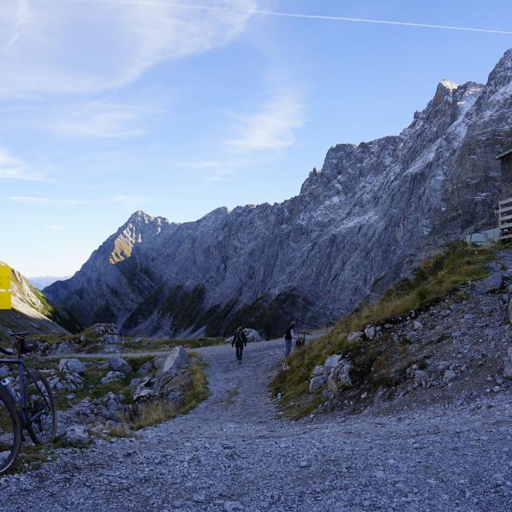 Der höchste Punkt: Rondo RUUT AL an der Lamsenjochhütte